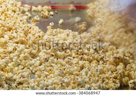 popcorn texture - stock photo