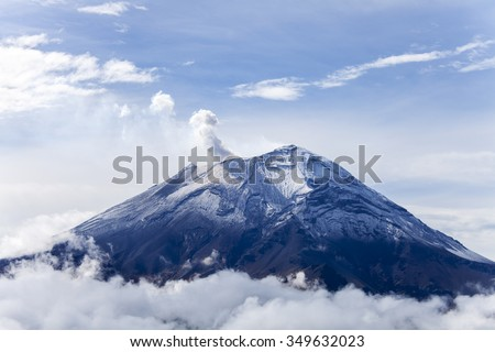 popocatepetl volcano in mexico  - stock photo