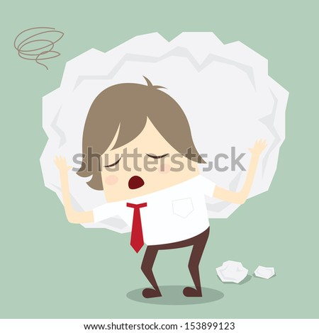 popular businessman serious stress concern confused hard work - stock photo