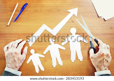 Population growth. Abstract conceptual image - stock photo