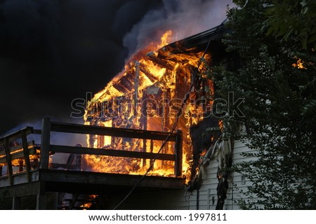 porch fire - stock photo