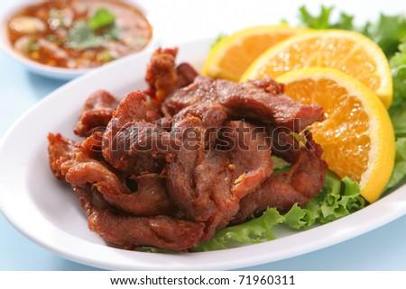 Pork Jerky - stock photo