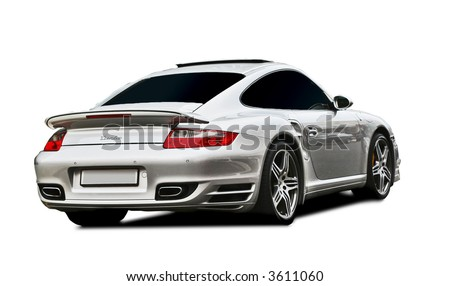 Porsche BAS Turbo edition isolated - stock photo