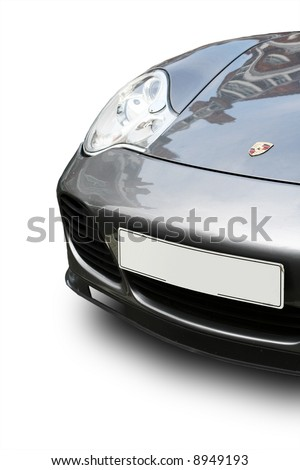 Porsche Turbo Isolated - stock photo