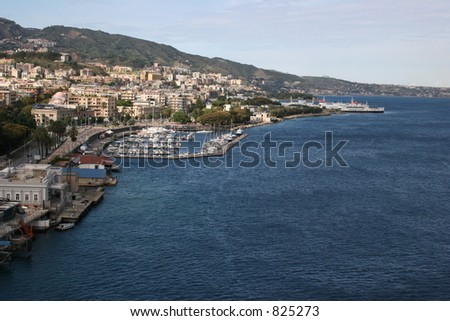 Port in Messina, Italy - stock photo