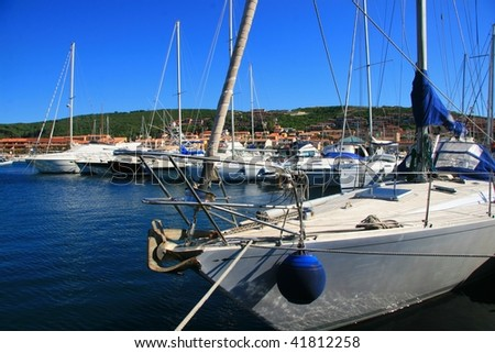 port in Santa Teresa, Sardinia - stock photo