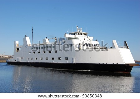 Port Jefferson to Bridgeport Ferry - PT Barnum - stock photo