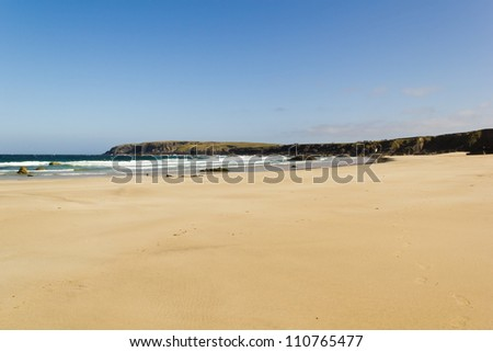 Port Nis beach - Outer Hebrides of Scotland - stock photo
