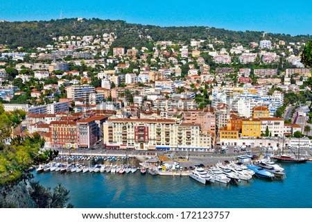 Port of Nice. France. Seascape. Summer day. - stock photo