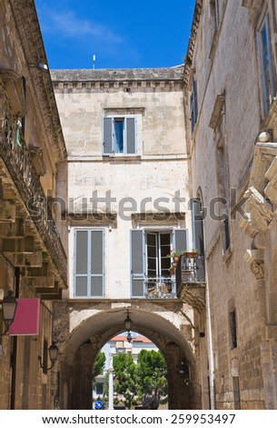 Porta Bari. Altamura. Puglia. Italy. - stock photo