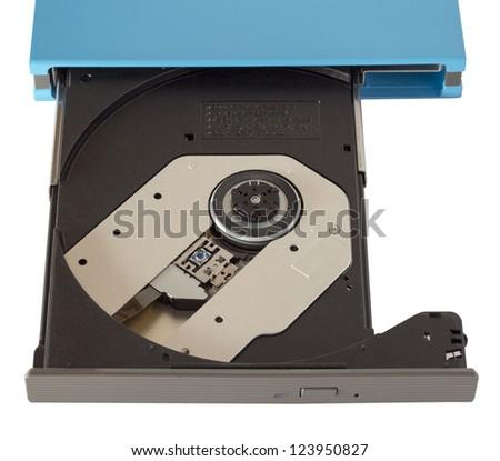 Portable Cd/Dvd external drive close up - stock photo