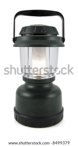 Portable Electric Lantern - stock photo