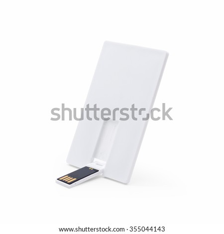 Portable flash drive card on white background. - stock photo