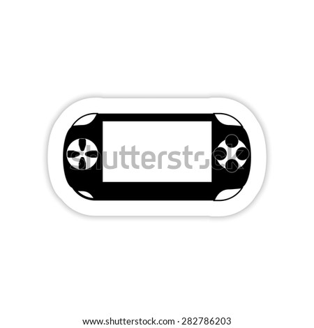 Portable game pad on a white background with shadow - stock photo