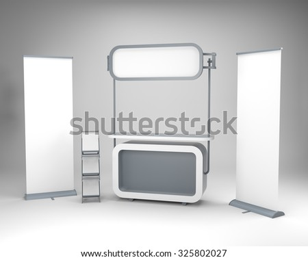 portable round shape booth or stand - stock photo