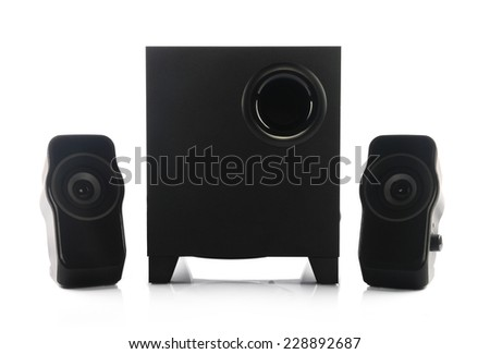 Portable Speakers With Woofer - stock photo