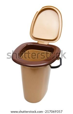portable toilet on a white background - stock photo