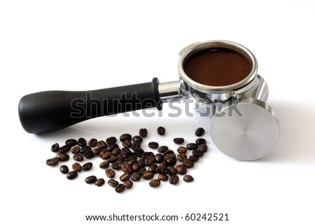 portafilter handle of single spout - stock photo