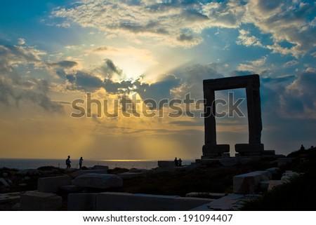 Portara - Naxos, Greece - stock photo