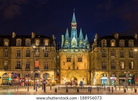 Porte Cailhau in Bordeaux - France - stock photo