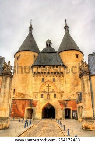 Porte de la Craffe, a medieval gate in Nancy - Lorraine, France - stock photo