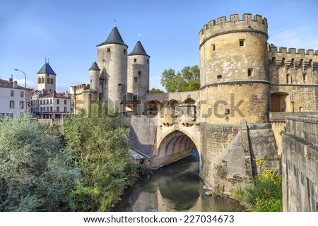 Porte des Allemands (German's Gate) in Metz, France - stock photo