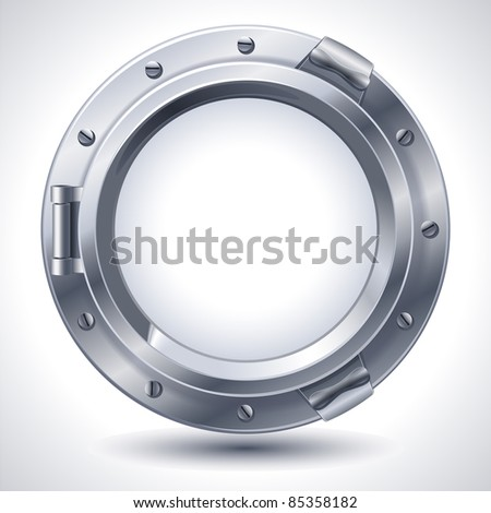Porthole - raster version - stock photo