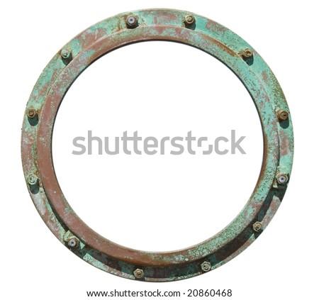 porthole style frame - stock photo