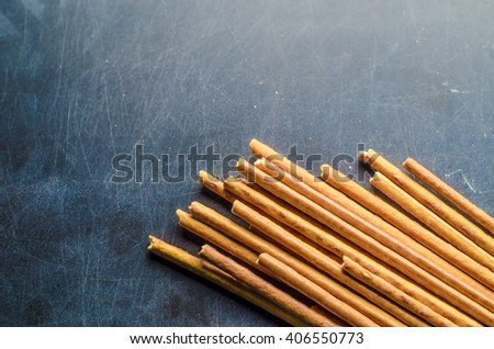 Portion of Salt Sticks - stock photo