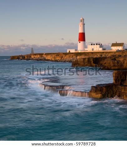 Portland Bill lighthouse, Dorset, UK - stock photo