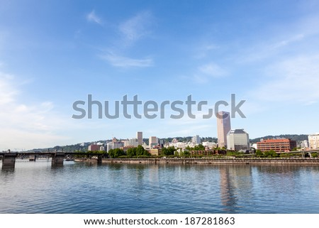 Portland, Oregon skyline - stock photo