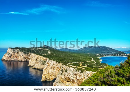Porto Conte bay in Sardinia, Italy - stock photo
