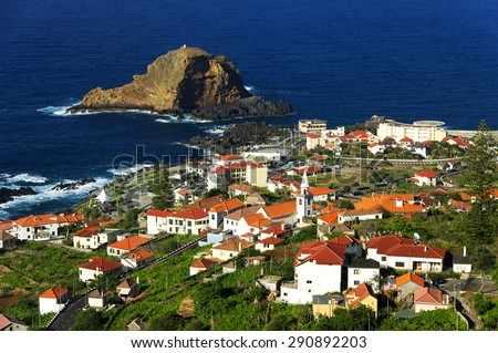 Porto Moniz in Madeira island, Portugal, Europe - stock photo
