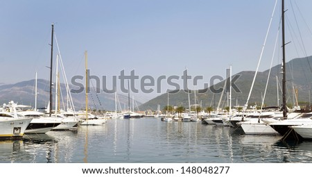 Porto Montenegro, Tivat  - stock photo