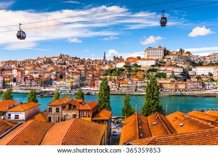 Porto, Portugal old town on the Douro River. - stock photo