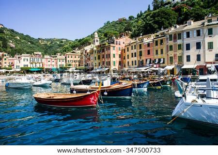 Portofino village, Italy - stock photo