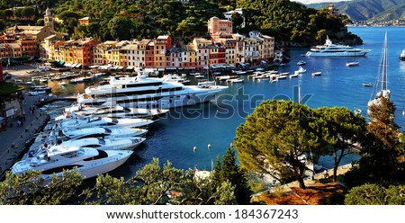Portofino village, Ligurian Coast, Italy - stock photo
