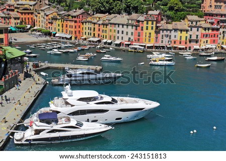Portofino Yacht Harbor - stock photo