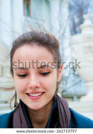 Portrait Face Park  - stock photo