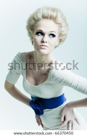 Portrait fashion girl - stock photo