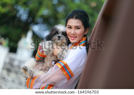 Portrait fashion of Asian female graduate in Thailand  - stock photo