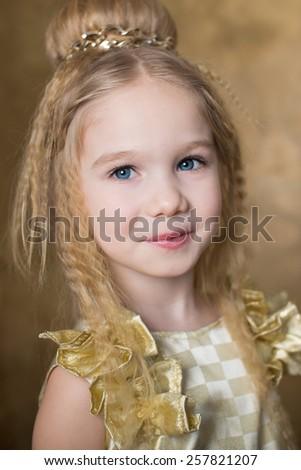Portrait girl  - stock photo