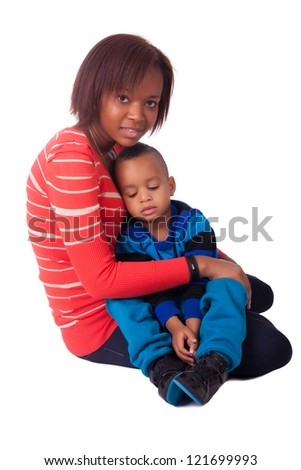 portrait mother and child - stock photo