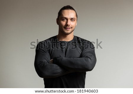 Portrait of a athletic man. Coach - stock photo