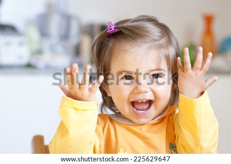 Portrait of a beautiful little girl  - stock photo