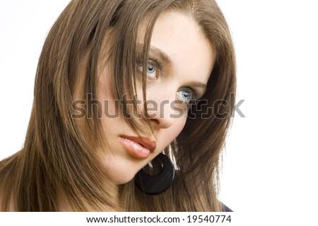 portrait of a beautiful model - stock photo