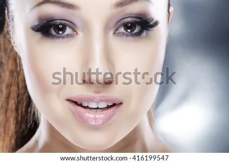 Portrait of a beautiful woman - stock photo