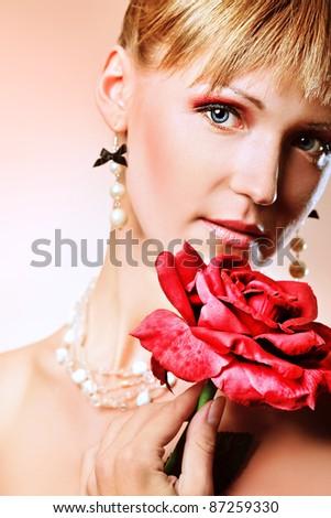 Portrait of a beautiful woman. - stock photo