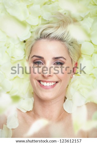 Portrait of a beauty woman - stock photo