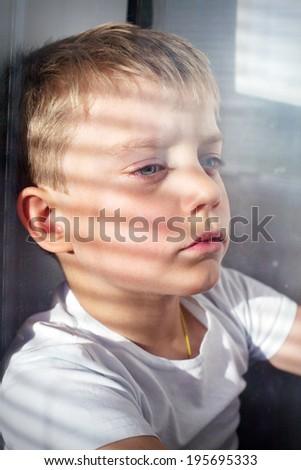 portrait of a boy - stock photo